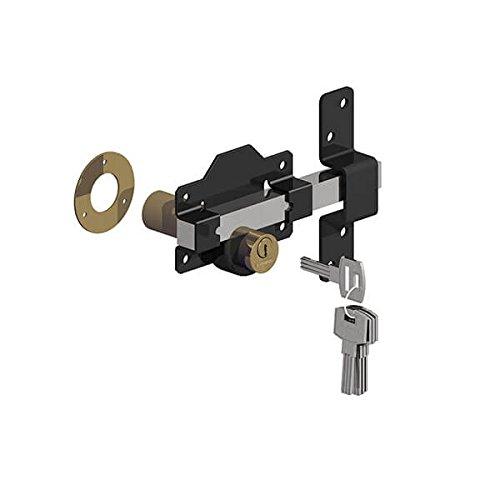 schwarz//Edelstahl Gatemate 1490086/Euro Long Throw Lo 5,1/cm 50/mm doppelte Verriegelung P11