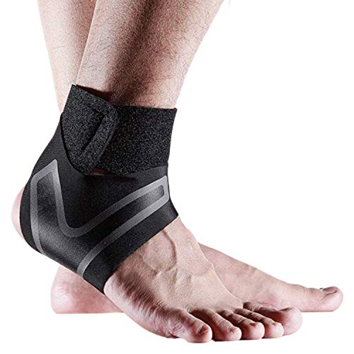 Ankle Supports for Weak Ankles 1 Pair GENERISE Adjustable Ankle Brace Provides Compression Ankle Support for Sprained Ankle Tendonitis Ligament Damage More Black Small Pair