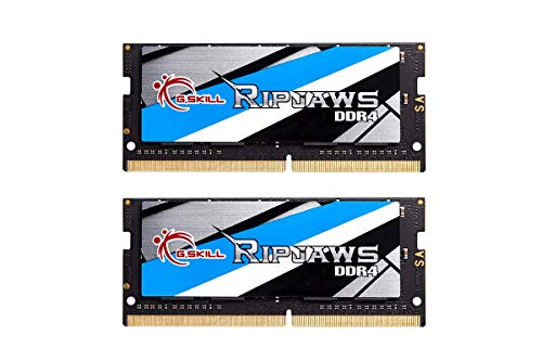 G.Skill 16GB 2666MHz DDR4 SO-DIMM Laptop Memory Upgrade Kit (CL19) 1.20V PC4-21300 Ripjaws 2x8GB
