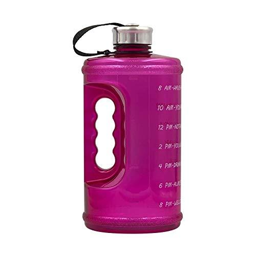 litulituhallo Botella de agua de galón con marcador de tiempo paja y mango 2.2L taza de agua hervidor Bpa libre grande grande botella de agua de deportes