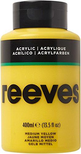 Reeves - Pintura acrílica 400 ml, Amarillo Medio
