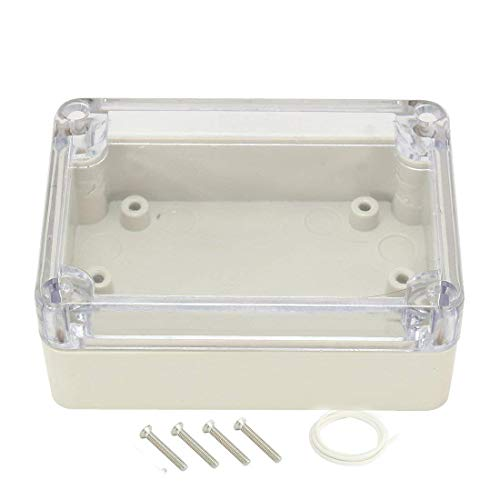YXQ 3.27x2.28x1.3inch Project Case Clear Cover Junction Box Waterproof Dustproof ABS Electronic Enclosure Cable (83x58x33mm)