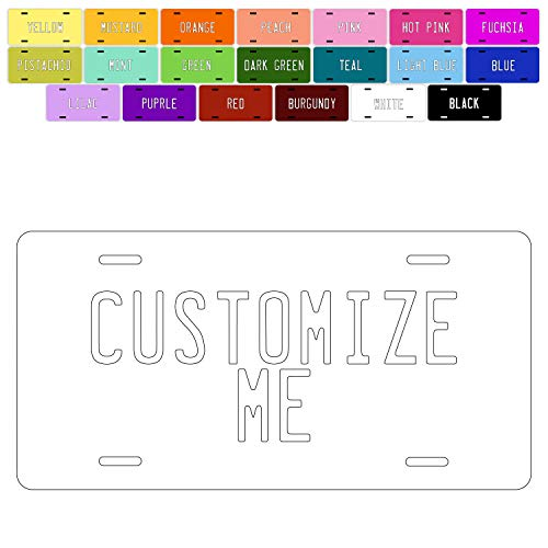 Brd Gifts Custom License Plate for Car - Personalized License Plate for Kids Cars | 20 Colors, 6x3 12x6 Aluminum Novelty License Plates - Add Your Photo, Text or Logo