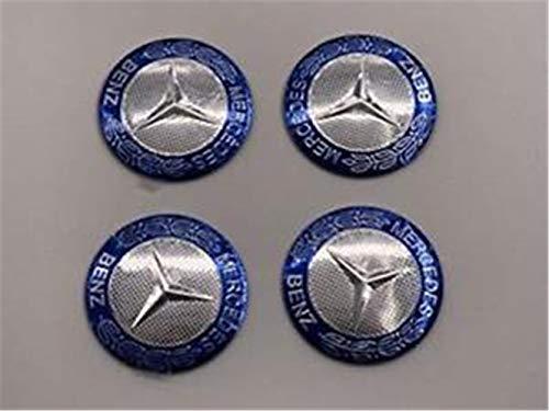 yongyong2184Piezas 56mm Copriauto para buje Rueda Central Portadas Pegatina Emblema para Mercedes-Benz Bluek