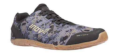 Inov-8 Bare XF 210 V2 - Barefoot Minimalist Shoes - Zero Drop - Versatile Everyday - Grey/Gum 12.5 M US