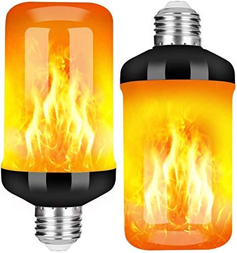 StillCool Bombilla de Llama, Efecto de Llama Intermitente LED E27, Bombilla de Llama Intermitente con 4 Modos, Utilizada para Navidad, Familia, Hotel, Bar, Decoración Navideña (2 Piezas)