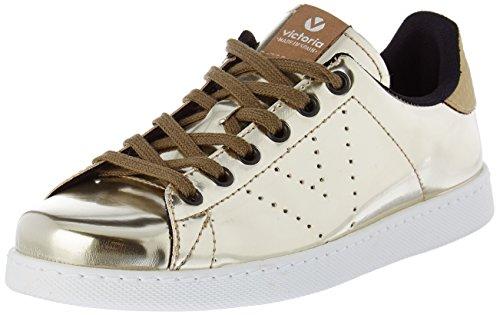 Victoria Deportivo Basket Espejo Metalizado - Botas de caño bajo Mujer, Dorado (Or (Oro)), 41 EU