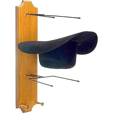 WesternWear Running D Unisex Wooden Triple Hat Rack Assorted One Size