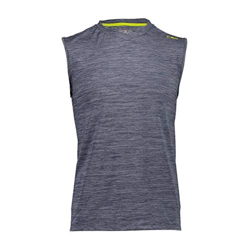 CMP Sleeveless Stretch T-Shirt with UPF 40 Protection Homme, Blue Pluto, 50
