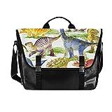 Hunihuni Messenger Bag Cute Animal Dinosaur Canvas Laptop Aktentasche Tote Bag Bag Bag for Men with Shoulder Strap Suit for 15' Inch