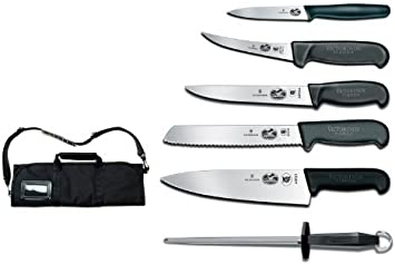 Victorinox Fibrox Pro, 7-Piece Knife Roll