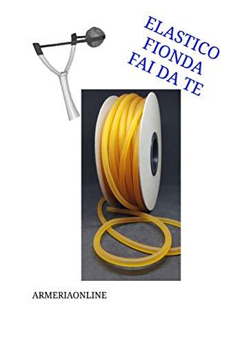 Elastico per Fionda Professionale da Caccia Pesca precisione in Lattice Ricambio 1metro (1 Metro)