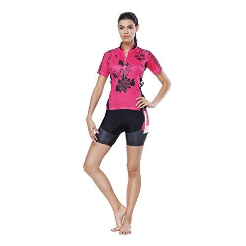 YGBH Maillot pour Femmes, VTT Riding 3D Gel Cushion Absorbant Les Chocs VTT, Maillot, Veste de Protection Sportive Vélo de Montagne, Top,S