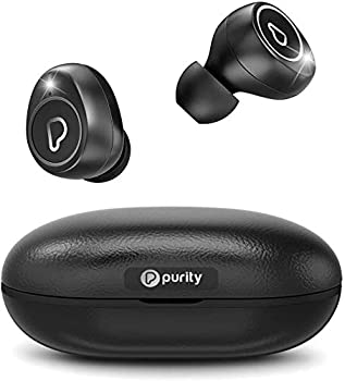Purity True Wireless Earbuds with Immersive Sound Bluetooth 5.0 Earphones in-Ear with Charging Case Easy-Pairing Stereo Calls/Built-in Microphones/IPX5 Sweatproof/Pumping Bass for Sports,Workout,Gym