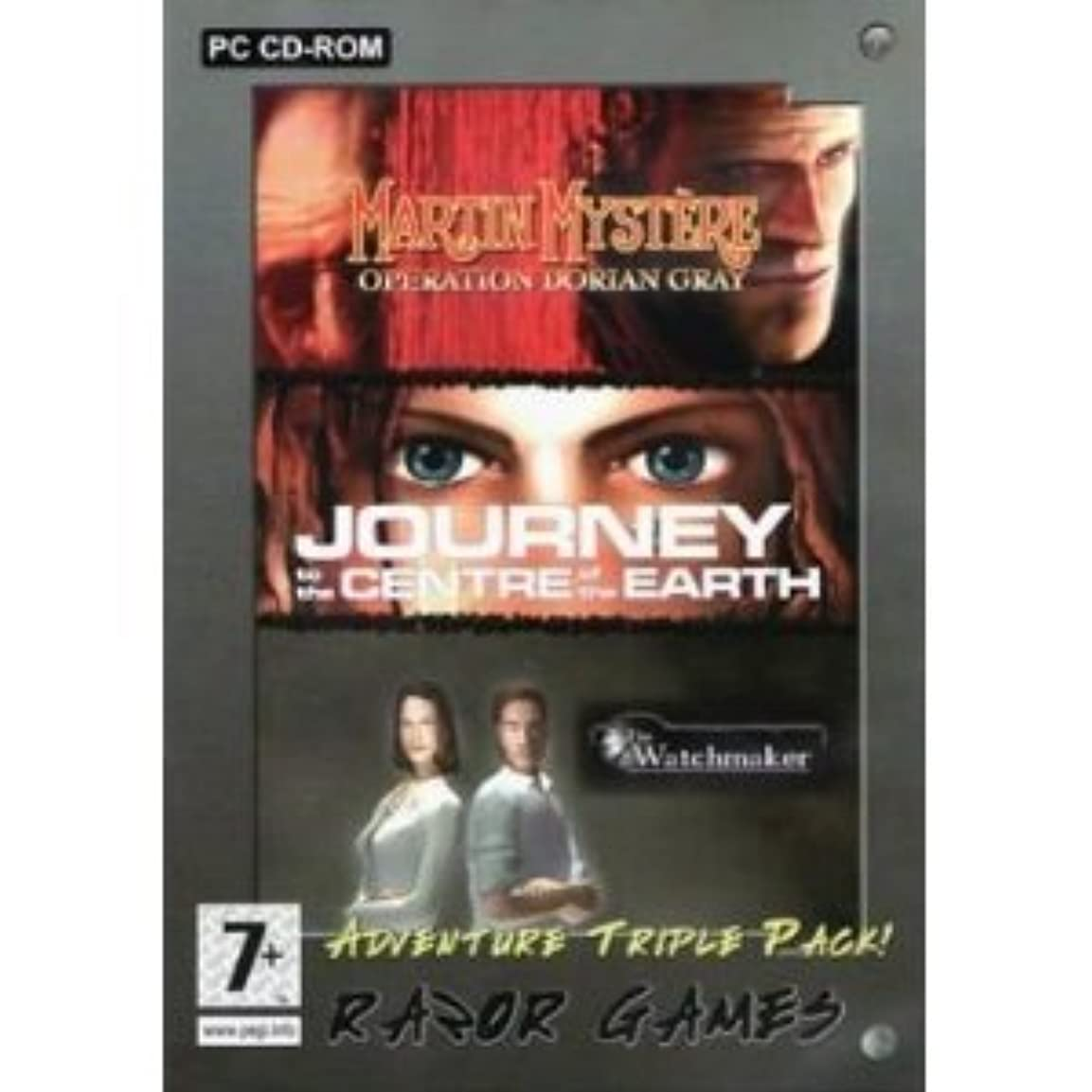 Total Adventure Triple Pack: Journey to the Centre of the Earth/Black Mirror/Watchmaker (輸入版)