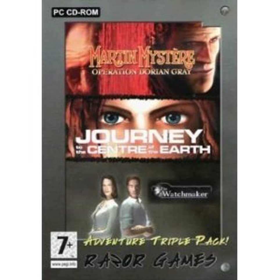 最愛の吐き出す滑るTotal Adventure Triple Pack: Journey to the Centre of the Earth/Black Mirror/Watchmaker (輸入版)
