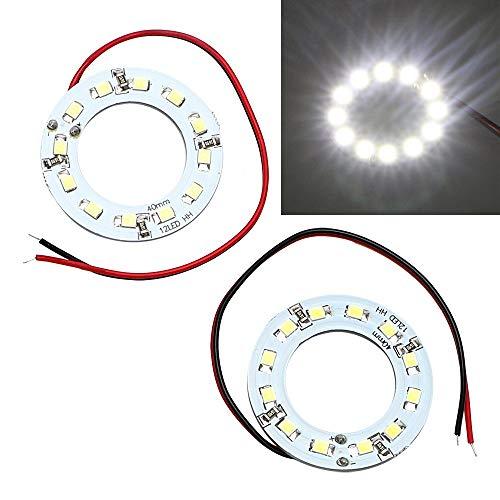 Itimo 2 pcs/lot œil d'ange circulation diurnes LED Lampe automobile 40 mm de voiture lumière 12smd 1210 3528 Auto DRL lampe Car-styling DC 12 V