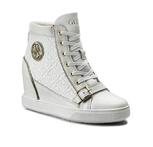 Guess FLIOE LEA12 - Zapatillas deportivas para mujer con cuña completa blancas Blanco Size: 40 EU