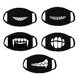vorcool 5PCS Baumwolle Anti Staub Gesicht Mund Maske waschbar Nebelscheinwerfer Maske Filter Earloop