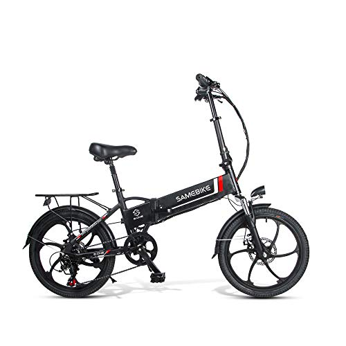 MIND YOUR FOCUS Samebike Electric Bike with Remote Control 20'' Aluminum Pro Smart Folding Portable E-Bike