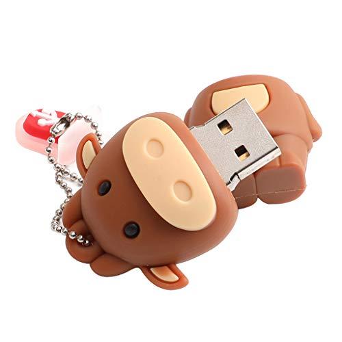 B Blesiya novità Simpatico Cartone Animato Animale Mucca Forma USB Flash Drive Pendrive U Disk - 64GB
