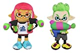 Little Buddy Set2-166061 Set of 2 Splatoon Inkling Plush, Girl Neon Pink & Boy Neon Green (Pack of 2)