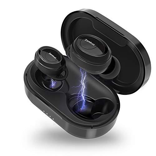 Bluetooth Kopfhörer Kabellose, Bluetooth Kopfhörer in Ear Bluetooth 5.0 mit Premium Klangprofil mit intensivem Bass, CVC8.0 Headset mit Geräuschunterdrückung und Mikrofon, für Handy/Sport/Android/IOS