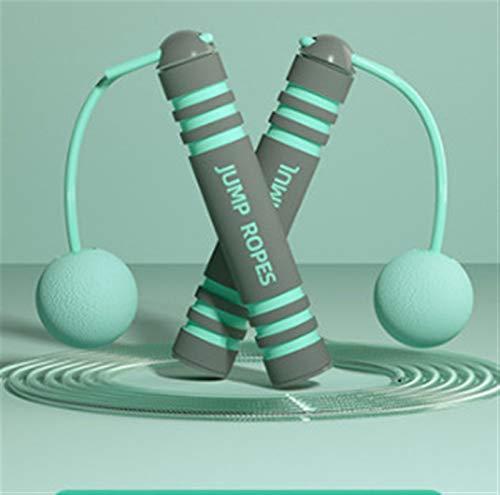HuaShslt Cuerda Saltando PVC Pulido de Salto de PVC de la Cuerda Salto inalámbrico Roper para niños Adultos Equipos de Fitness portátiles (Color : Light Green)