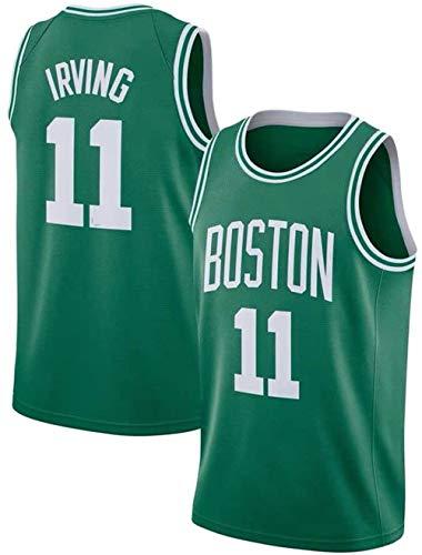 Lalagofe Kyrie Irving, Boston Celtics #11, Basket Jersey Maglia Canotta, Verde, Maglia Swingman Ricamata, Stile di Abbigliamento Sportivo (M)