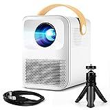 Mini proyector, Podor proyector 720P, cine en casa, doble altavoz, 60.000 horas LED proyector, compatible con TV Stick,...