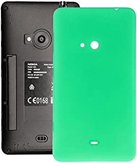 WUXUN-PHONE ACCESSORY Repair Parts Compatible with Nokia Lumia 625 Housing Battery Back Cover with Side Button (Color : Green)