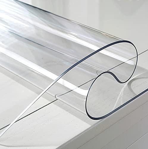 GSPURS PVC Protector de Mesa, de Material Impermeable Transparente mesas de Comedor Mantel Mesa de Escritorio Protector 1mm(Size: 45x70cm/18x27in)