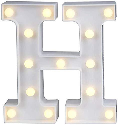 Lettere Dell Alfabeto Luminose a LED,26 Alfabeto e 0-9 Digital Light Up Letters Sign Perfetto per la luce notturna Matrimonio Festa di compleanno Lampada di Natale Decorazione bar a casaH16cm