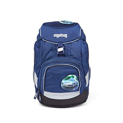 ergobag pack Set - ergonomischer Schulrucksack, Set 6-teilig - BlauchlichtBär - Blau
