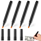 Counterfeit Bill Detector Pen Fake Bill Detector Pen Pen Money Checker Device Currency Detector Pen for Check Fake Bills, Counterfeit Cash Detection Cash Currency Note (4 Pieces)