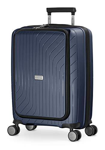 HAUPTSTADTKOFFER - TXL - Maleta de Mano Ligera con Bolsa para Ordenador portátil, Maleta rígida de Polipropileno Resistente, 55 cm, 40 L, Cierre TSA, Color Azul Oscuro