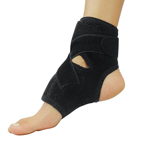 Vive Ankle Support Brace for Men and Women - Adjustable Foot Wrap Sleeve - Lightweight and Breathable Rolled, Sprained Foot Guard Stabilizer for Running, Sprains, Swollen Peroneal Tendonitis, Soccer