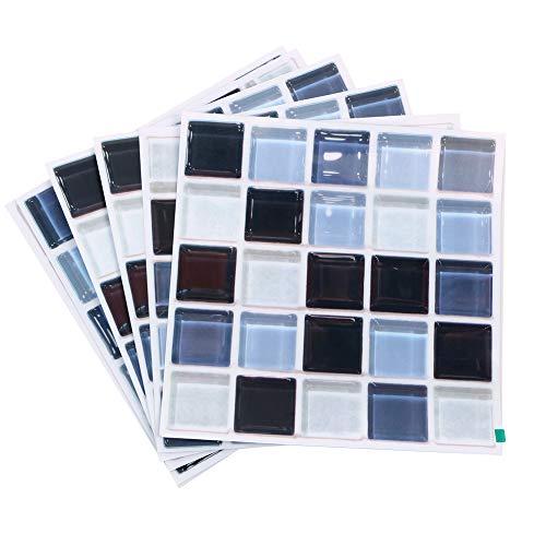 Here&There Fliesenaufkleber Mosaik, 19,8 x 19,8 cm, 6 Stück blau