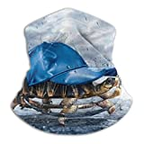 Linger In Cuello Polaino Tortuga con Sombrero Azul Funda de esquí Bufanda Deportes a Prueba de Viento