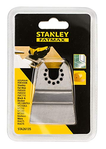 Stanley STA26135-XJ FatMax Multi-Tool fester Stahlspachtel (52x26mm, Zubehör für Multitool, zum Entfernen z.B. von Klebstoffresten, Teppichboden, Fliesenkleber)