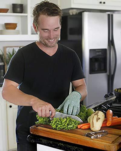 BUY-TO Guantes a Prueba de Corte HPPE EN388 ANSI Nivel 5 Seguridad Resistente al Trabajo Cortar Carne, Verduras, Frutas para la Cocina,XL-26cm