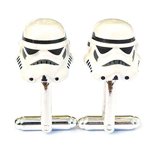Stormtrooper Star Wars Manschettenknöpfe, handgefertigt aus Lego® Minifigurenköpfen, Hochzeit, Bräutigam, Geschenkbeutel