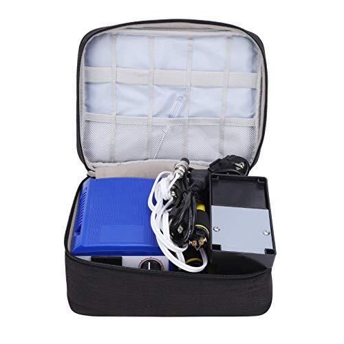 Kit de bolígrafo de pirograbado profesional de 60 W, máquina de pirograbado multifunción de leña, temperatura ajustable de 0 a 800 ℃, con 20 puntas, 1 juego de herramientas(EU)