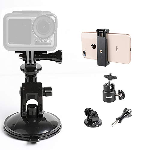 Ajustable Car Suction Cup Mount for Smartphone and Gopro Hero 9/8/7/6/5/4...