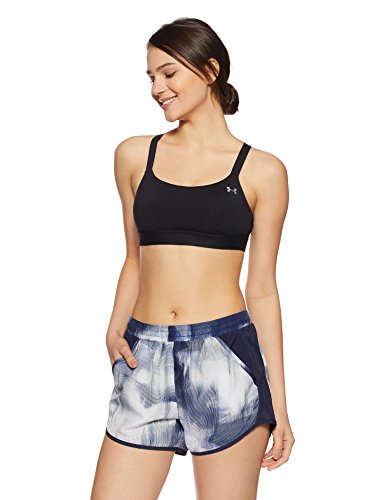 Under Armour Women's Armour Eclipse Bra, Black (001)/Metallic Silver, Small