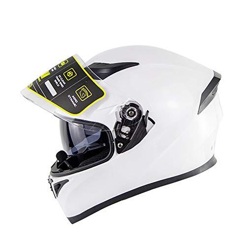 O TKUI Nero Opaco Moto Casco Cross Country D T Certificazione Endurance Race ATV ATV Casco Casco di Sicurezza Stereo Traspirante Include Occhiali//Guanti//Maschera