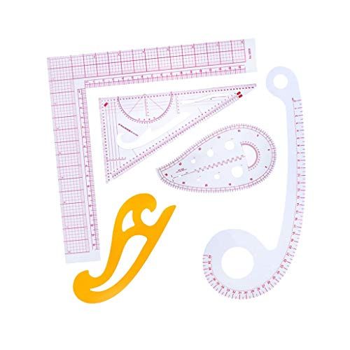 FLAMEER 5 Stücke Französisch Kurvenlineal Set für Schneider Nähen Schneiderei Muster Design