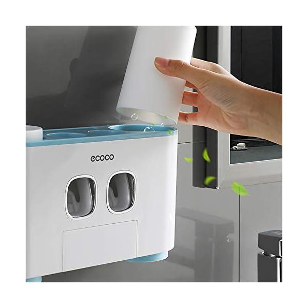 Blusea ecoco – Soporte para cepillo de dientes, automático, para