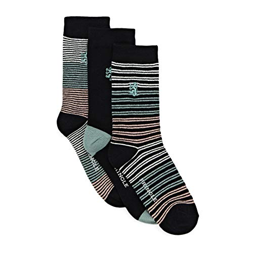 Pringle 3 Pack Stripe Womens Fashion Socks One Size Navy