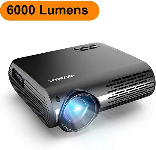 Proyector, WiMiUS 6000 Lúmenes Proyector Full HD 1920x1080P Nativo Proyector Video...